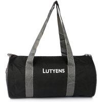 Lutyens Black Grey Polyester Printed Casual Gym/Drum Bags (20 Liters)