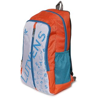 Lutyens Orange White Green Casual School Bags (22 Liters)