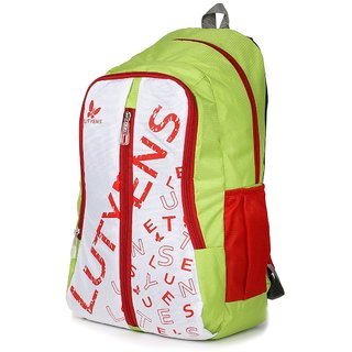 Lutyens Green White Red Casual School Bags (22 Liters)