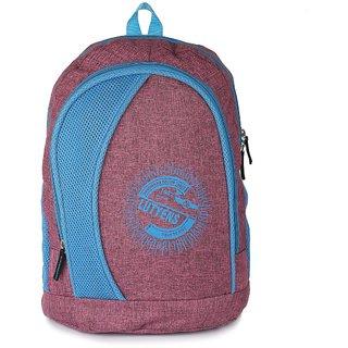 Lutyens Maroon Blue Khadi Fabric School Bags (26 Liters) Lutyens_223