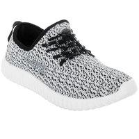 Lancer Men's White & Black Lace-up Casual Shoes