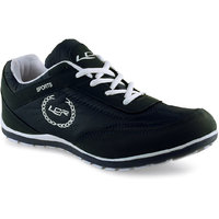 Lancer Men's Black And White Lace-up Casual Shoes