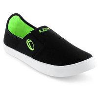 Lancer Men's Black & Green Slip On Casual Shoes