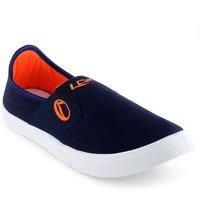 Lancer Men's Blue & Orange Slip On Casual Shoes
