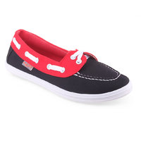 Lancer Women's  Black & Red Slip On Casual Shoes