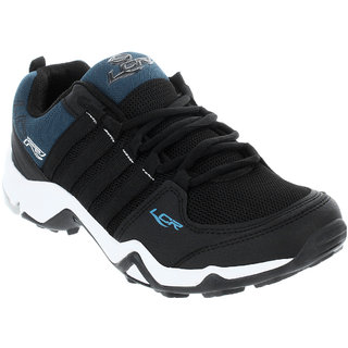 Lancer Mens Black Lace-up Running Shoes