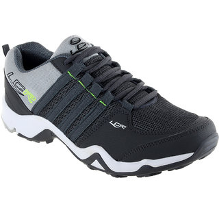 Lancer Mens Black & Gray Running Shoes