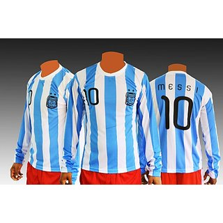 Messi long sleeve football Jersey ( Argentina )