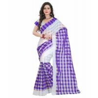 Indian Beauty Synthetic Cotton Checks Saree