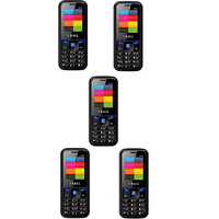 Combo Of 5 , K16 I Kall Dual Sim Multimedia Mobile Phone With FM Bluetooth