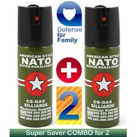 PEPPER SPRAY 2X COMBO - HIGHEST INTENSITY Of 10% OC