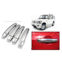 DLT -Chrome Plated Car Door Handle Cover for Mahindra Scorpio (Set of 4)