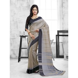 Vaikunth Multicolour Art Silk printed Saree with unstitched blouse