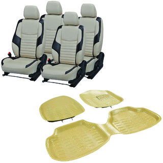 Pegasus Premium Pu leather car seat cover With Crocodile Texture 4D Mat For Maruti SX4