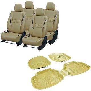 Pegasus Premium Pu leather car seat cover With Crocodile Texture 4D Mat For Honda Jazz