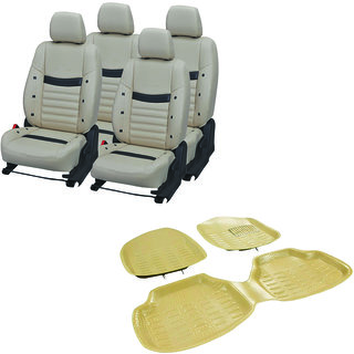 Pegasus Premium Pu leather car seat cover With Crocodile Texture 4D Mat For Ford Figo