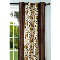 Deal Wala Pack Of 2 Flower With Border Design Eyelet Door Curtain (code-nit01)