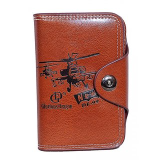Men A11 GD Fency Real Pure Luxuries Genuine Leather Royal Brown Bovis card Wallet