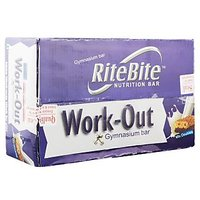 RiteBite Work-Out Gymnasium Nutrition Bar, 50g (Pack of 24)