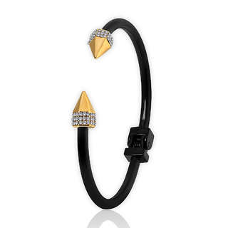 Spargz Black AD Stone Arrow Cuff Bangles Bracelets for Girls  Women AISK 150