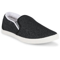 Chevit Men's Black Casual Shoes Loafers And Mocassins