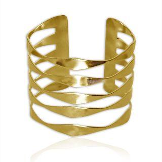 Spargz Gold Plated Weaves Adjustable Cuff Bangles Bracelets for Girls  Women AISK 156