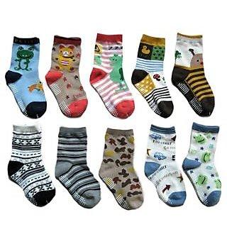 Set of 6 Kids Cotton Socks (3 to 7 yrs)