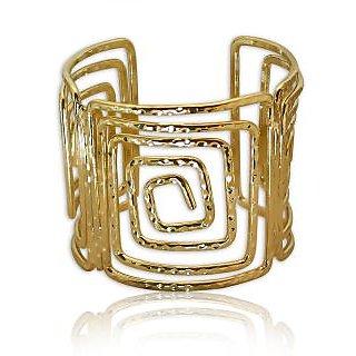 Spargz Gold Plated Filigree Adjustable Cuff Bangles Bracelets for Girls  Women AISK 157