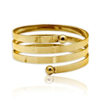 Spargz Gold Plated Spring Pattern Adjustable Bangles Bracelets for Girls  Women AISK 169