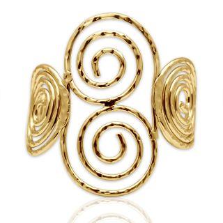 Spargz Gold Plated Hammered Adjustable Cuff Bangles Bracelets for Girls  Women AISK 172