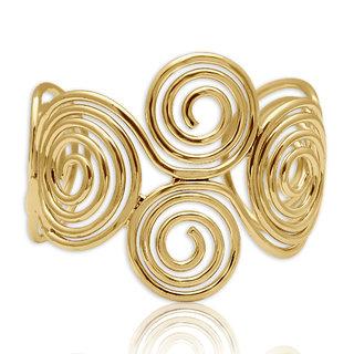 Spargz Gold Plated Swirl Cuff Bangles Bracelets for Girls  Women AISK 186