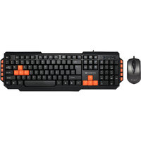 Amkette Xcite Pro USB Keyboard And Mouse Combo (Black)