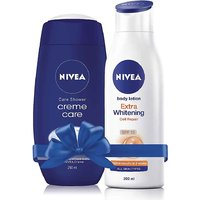 Nivea Creme Care of 250ml and Extra Whitening Body Lotion of 200ml