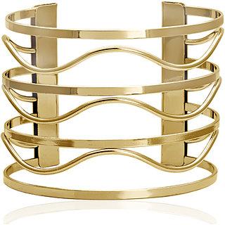 Spargz Gold Plated Weaves Adjustable Cuff Bangles Bracelets for Girls  Women AISK 190