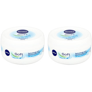 Nivea Soft Light Moisturiser Creme 200ml (pack of 2)