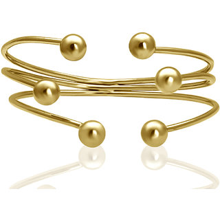 Spargz Gold Palted Ball End Cuff Bangles Bracelets For Girls  Women AISK 192