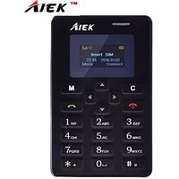 AIEK (TM) M5 BLACK BY LASCOM INDIA, CREDIT CARD SIZE GSM MOBILE WITH BLUTOOTH DIALER