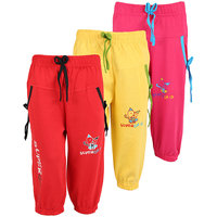 WEECARE GIRLS LOGO POCKET CAPRI (PACK OF 3)
