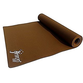 Gravolite Plain Brown Yoga Mat 10MM