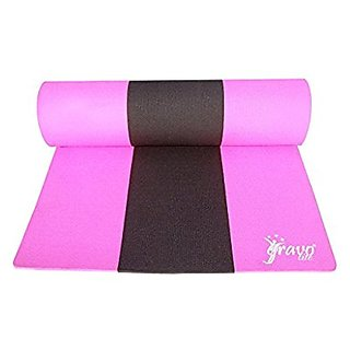 Gravolite Triple Layer Exercise, Fitness, Gym, Meditation, Yoga Mat Pink Color 6mm (30x72 inch)