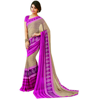 Subhash Daily Wear Pink and Beige Color Georgette Saree/Sari