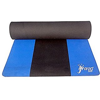 Gravolite Triple Layer Exercise, Fitness, Gym, Meditation, Yoga Mat Blue Color 9mm (36x78 inch)