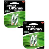 Eveready 2100 MAh AA Battery With 4 Battery (2+2) Combo