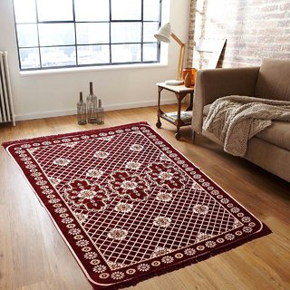 Akash Ganga Designer Chenille Floor Carpet- 1 Pc (Size 5X7 FEET)