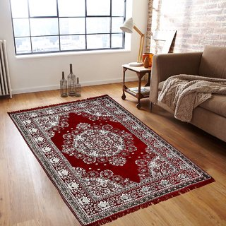 Akash Ganga Beautiful Chenille Carpet- 1 Pc, Size 5X7 FEET (Carpet-06)