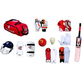 CW Premium Complete Cricket Kit With English Willow Bat in Senior Size
