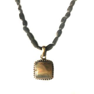 Bgyle Pendant With Dark Grey Beads Chain