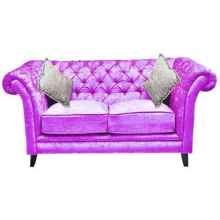 Empire Two Seater (Fabric Purple Colour)