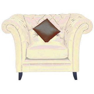 Empire Three+Two+One Seater (Artificial Leatherite Cream Colour)