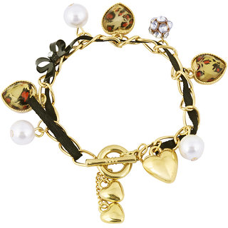 The Bling Stores Gold Alloy Gold Plated Bracelets for Women